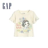 Gap 女幼童 Gap x Disney迪士尼系列公主荷葉邊短袖T恤 591057-象牙白