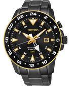 SEIKO 精工 Sportura GMT 二地時間專業人動電能手錶-黑/44mm 5M85-0AA0SD(SUN026J1)