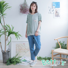 betty's貝蒂思 羅紋釘扣休閒牛仔褲(淺藍)