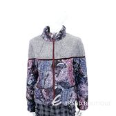 Mori Castello 毛呢拼接絎縫印花紫紅灰拉鍊外套 1880050-01