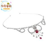 《布布童鞋》韓風設計典雅粉紅吊鑽皇冠造型公主髮箍 [ O7M727Q ] 銀色款