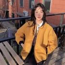 女士夾棉加厚外套秋冬百搭2020年新款時尚休閒寬鬆長袖棒球服上衣 依凡卡時尚