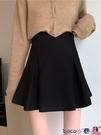 熱賣短裙 春秋韓版2021新款設計感裙子高腰顯瘦爆款A字半身裙短裙女小黑裙 coco