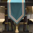 簡約桌旗簡約床旗北歐茶幾餐桌布禪意茶巾【英賽德3C數碼館】