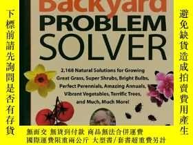 二手書博民逛書店家庭後花園營造完全指南罕見Jerry Baker s Backyard Problem Solver by Jer