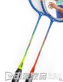 羽毛球拍雙拍成人健身 2只單支拍輕便初學拍業余初級 印象家品