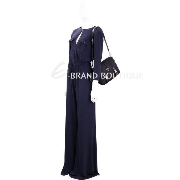 PRADA Bomber 三角牌鋪棉尼龍肩背包(黑色) 1711098-01