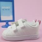 【iSport愛運動】代購正韓品 ADIDAS VS ADV CL CMF 小童鞋 魔鬼氈 BB9980 白