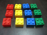 【台灣製我高OK積木】大顆粒 2*2正方塊(12入)