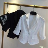 正韓7分OL短西裝薄短袖胖MM大尺碼小西服外套女