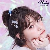 髮飾 糖果愛心髮圈髮夾三件組-Ruby s 露比午茶