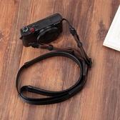 適用索尼黑卡RX100M3M4M5M6理光GR2 GR3G7X2微單相機羊皮背帶肩帶 YJT