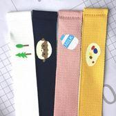 韓國原宿BF風趣味卡通油畫百搭糖果色男女帆布腰帶雙環扣青年皮帶 全館免運