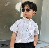 男童襯夏季韓版短袖卡通印花兒童襯衣寶寶