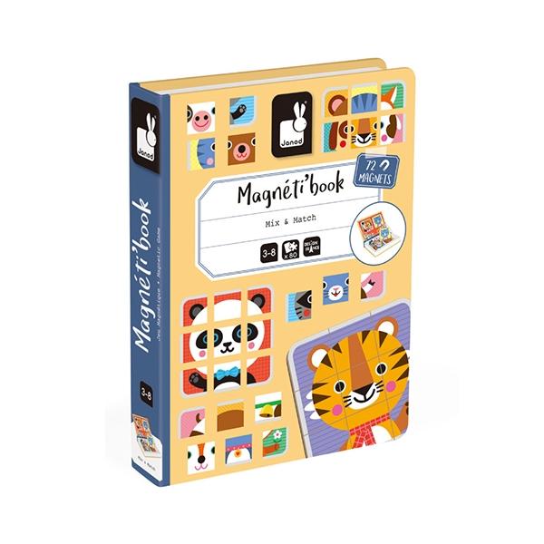 【法國Janod】磁鐵遊戲書-動物拼圖