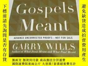 二手書博民逛書店what罕見the gospels meant garry wi