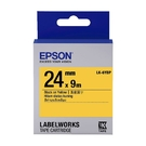 EPSON LK-6YBP C53S656404 粉彩系列黃底黑字標籤帶 寬度24mm