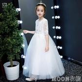 花童禮服兒童公主裙女童蓬蓬婚紗生日小主持人走秀鋼琴晚禮服春夏 moon衣櫥