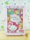 【震撼精品百貨】Hello Kitty 凱蒂貓~撲克牌-熊圖案-粉色