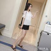 孕婦短褲 孕婦短褲女夏季款新款時尚潮媽寬鬆休閒打底褲薄外穿夏裝褲子  提拉米蘇