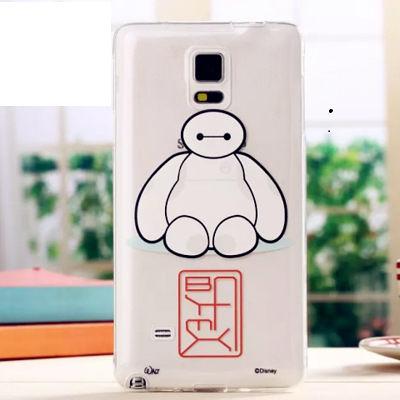 King*Shop~超能陸戰隊大白三星Note4手機殼note4超薄保护套 卡通透明軟殼TPU