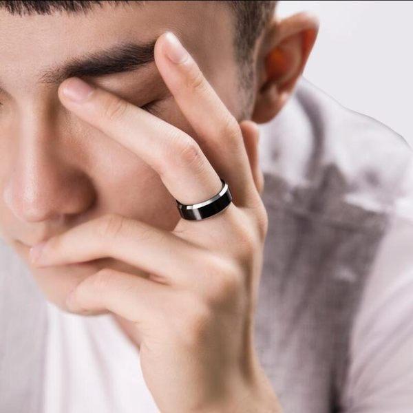 烏金黑色男士戒指個性男生尾戒韓版食指單身戒指環