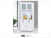 【MK億騰傢俱】ES706-03綺雅娜白色3尺碗盤餐櫃(全組)