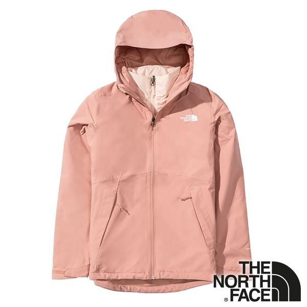 【THE NORTH FACE 美國】女兩件式 PrimaLoft防風 保暖連帽外套『粉色』 NF0A4NFB 休閒 保暖 防風