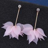 韓版時尚甜美淑女OL氣質磨砂多層花瓣女氣質奢華鑲鑽個性耳釘  玩趣3C