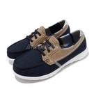 Skechers 休閒鞋 Go Walk Lite-Playa Vista Wide 藍 咖啡 女鞋 寬楦頭 運動鞋 懶人鞋 【ACS】 136070WNVY