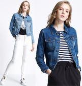 牛仔外套 韓版短版長袖修身外套 3色 S-XL #sd8141906 ❤卡樂❤