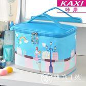 化妝包旅行出游小號便攜迷你少女心化妝品收納包大容量洗漱包韓國