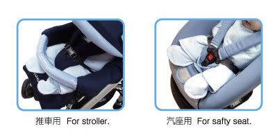【奇買親子購物網】酷咕鴨KU.KU. 推車&汽座抱巾(藍色/粉色)