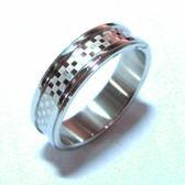 經典格紋鈦鋼戒指 / 美規6~10號
