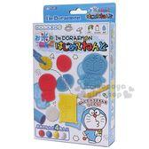 〔小禮堂〕哆啦A夢 黏土模具組《4色入.藍白.塗鴉》適合3歲以上孩童 4973107-46247