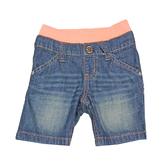 日本西松屋 鬆緊帶外出牛仔短褲 綠橘 | 男寶寶褲子(嬰幼兒/小孩/baby)