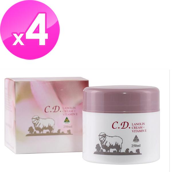 【澳洲Natures Care】C.D. 綿羊霜含維他命E(4入組 250g/罐)