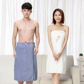 成人加厚男女裹胸吸水抹胸浴裙白色汗蒸服