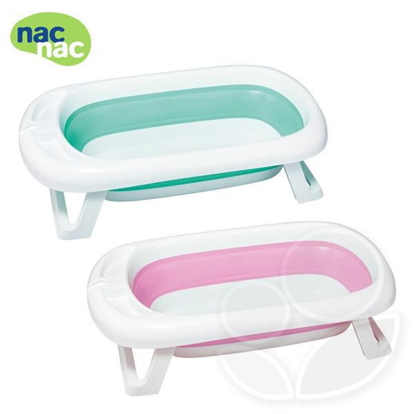 nac nac 2in1折疊浴盆組(浴盆+浴網)-清新綠/甜心粉【佳兒園婦幼館】