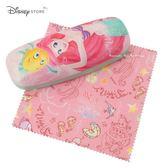 日本 Disney Store 迪士尼商店 限定 小美人魚 &比目魚 眼鏡盒+拭鏡布 套組