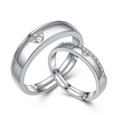 925純銀戒指 鑲鑽(單件)-甜蜜戀情生日情人節禮物男女飾品73an56【巴黎精品】