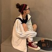 外套女潮韓版寬松運動風上衣百搭休閒棒球服【橘社小鎮】