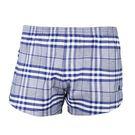BURBERRY 經典格紋棉質家居短褲(藍色)085195-7