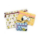 【日本進口正版】史努比 Snoopy C套組 收納包 收納袋 三件組 PEANUTS - 870571