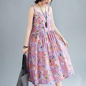 依多多 紫粉花無袖連身裙 1色(均碼)