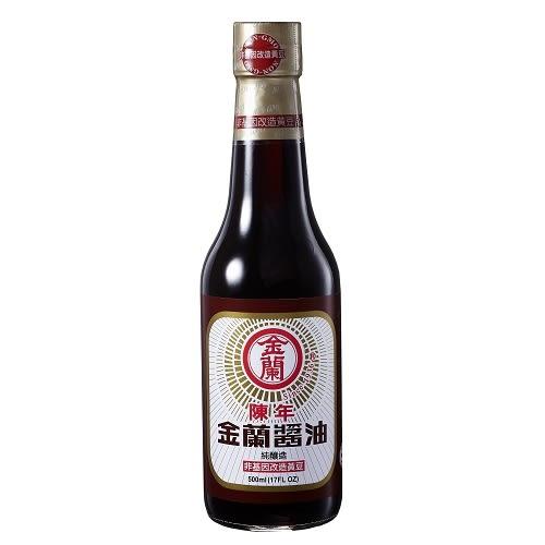 金蘭陳年醬油(非基因改造黃豆)500ml【愛買】