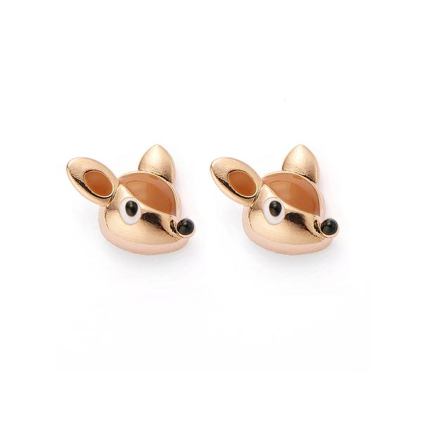 【正韓】P.Y 俏皮小鹿斑比耳環 16K玫瑰金