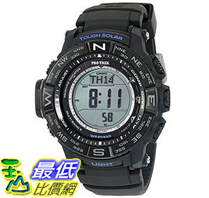 [美國直購] 手錶 Casio Men s PRW3510Y-1 Triple Sensor Digital Quartz Resin Black Silicone Automatic Watch