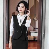 馬甲女式2010年春季黑色時尚西裝馬夾外套背心外穿百搭職業坎肩 SUPER SALE 快速出貨