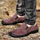 男鞋真皮透氣戶外休閑鞋男士皮鞋防水工裝鞋防滑運動登山鞋男